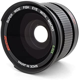 Albinar 0.42x 58mm Titanium Super Wide Angle Fisheye Lens with Macro - Black - Made in Japan