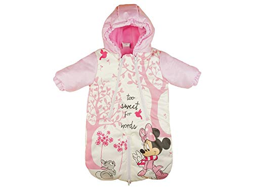 Disney Minnie Mouse Baby Fuß-Sack Kinderwagen-Sack Winter-Overall Wind- Schneeoverall Größe 56 62 68 74 Schnee-Anzug Anorak Auto-KOMPATIBEL Größe 56/62