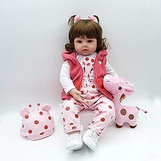 Nicery Reborn Muñeca de 45 cm de Silicona Suave para niños cumpleaños Peluca Reborn Baby Doll A3UK