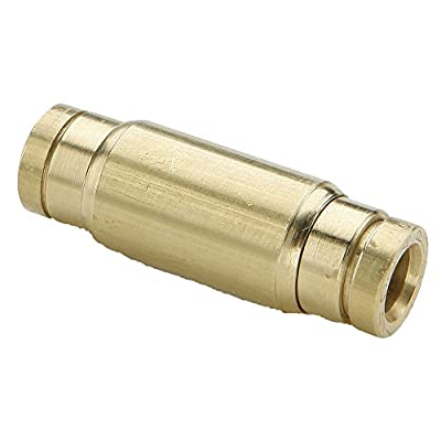 """Parker Push-to-Connect D.O.T. Fitting, Tube to Tube, Brass, Push-to-Connect Union, 3/8"""" and 1/4"""""""