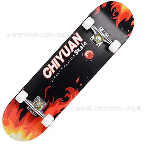 Amazing Deal Skateboard Adult Truck Children Teenagers Girl Longboard Maple Natural Wood Four-Wheels...