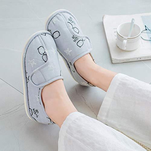 Extra brede pasvorm voor diabetische orthopedische pantoffels,Zwangerschapsschoenen met hak postpartum, zachte antislip-pantoffels voor moeders-36_Pink,Plantar Fasciitis sneakers Air Shoe