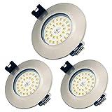 Foco Empotrable Led 7W LED Luz de Techo Blanco Cálido 3000K IP44, Iluminación para baño, Cocina, Recibidor, Oficina, Luz de techo rasante, Lámpara de techo para baño
