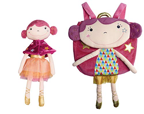 EBULOBO Kinder-Rucksack Betty die Funambule Plus die Betty Puppe