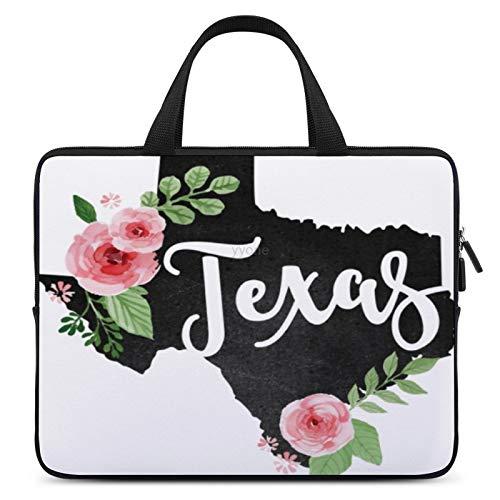Neoprene Sleeve Laptop Handle Bag, Texas Floral, Portable MacBook Laptop/Ultrabooks Case Bag Cover Handbag Notebook Case 15 Inch