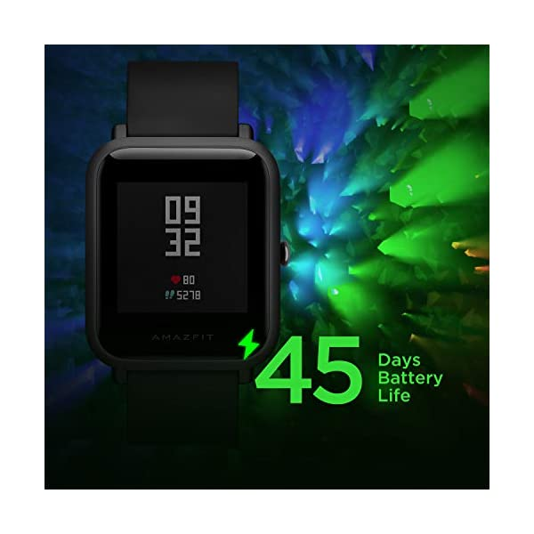 Amazfit BIP Lite Smart Watch- Blue (UP to 45 Days Battery Life_3 ATM) 4 41pTUfb0bDL