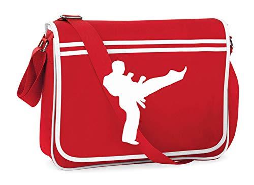 Druckerlebnis24 - Bolsa de hombro para Karate Kick Sport – Bandolera, adecuada para escuela, universidad, ordenador portátil