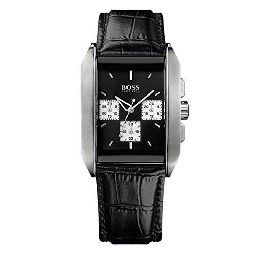 Hugo Boss 1512581 - Reloj de Caballero de Cuarzo, Correa de Piel Color Negro