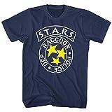 Resident Evil Raccoon Police Dept Stars Men's T Shirt Zombie Gamer Capcom Navy Blue XXL