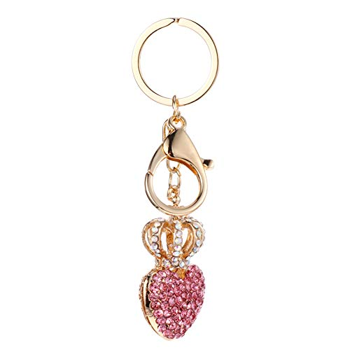 SOIMISS Romantische Rote Herz Schlüsselbund Schicke Strass Kristall Schlüsselring Paare Schlüsselkette Handtasche...