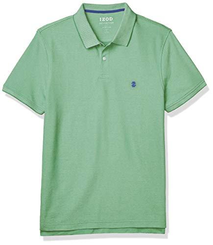 IZOD mens Slim Fit Advantage Performance Short Sleeve Solid Polo Shirt, Green Spruce, XX-Large Slim US