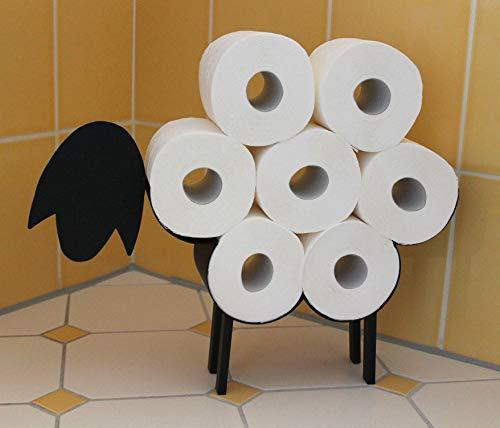 DanDiBo Toilettenpapierhalter Schwarz Metall Schaf WC Rollenhalter Freistehend WC Papierhalter Toilettenrollenhalter 2