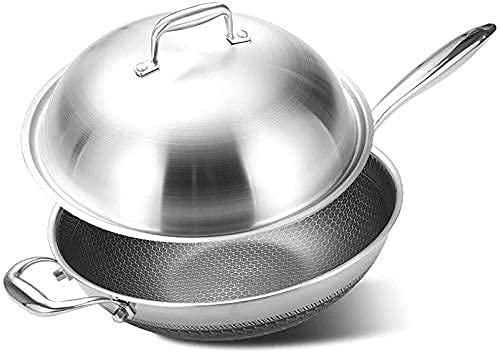 Pan de freír profesional, conjunto de sartén antiadherente, sartenes de inducción con revestimiento de piedra resistente y manijas resistentes al calor para carne abrasadora, panqueques de cocina, tor