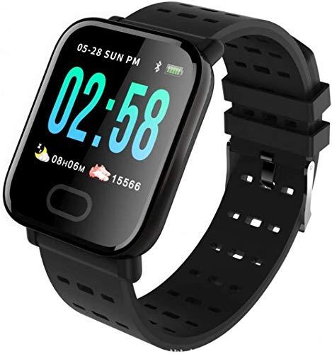 hwbq Monitor de actividad física con pantalla táctil con monitor de ritmo cardíaco, monitor de sueño, monitor de actividad, pulsera inteligente