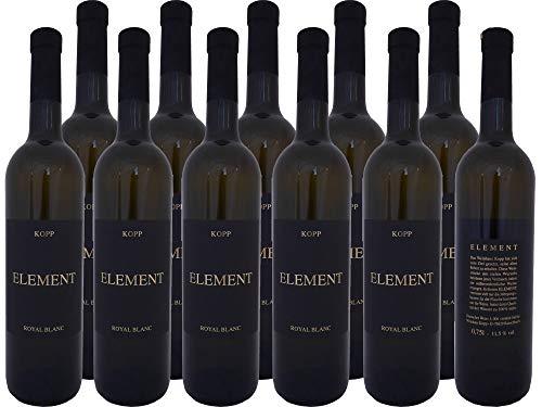 Element Royal Blanc edler Wein (weiß) mit Korkverschluß vom Weinhaus Kopp Pfalz (11 x 0,75l)