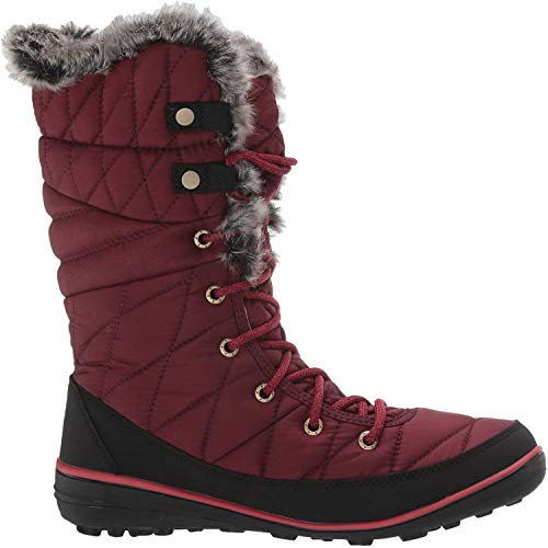 Columbia Women's Heavenly Omni-Heat Snow Boot, Rich Wine, Daredevil, 7.5 Regular US