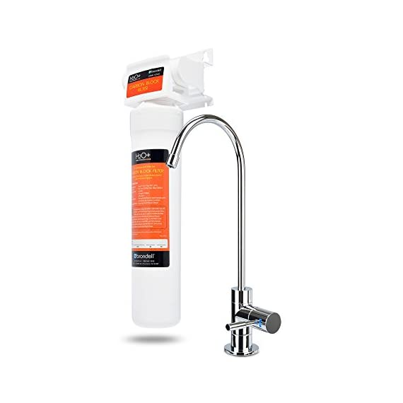 Brondell UC100 H2O+ Coral Single-Stage Under counter Water Filtration System with Over 99% Lead Reduction, 1, Chrome 1 Powerful certified carbon block filtration performance certified for more than 99% lead reduction Designer chrome faucet with integrated LED filter change indicator (included) Twist & Seal filter makes replacement a breeze