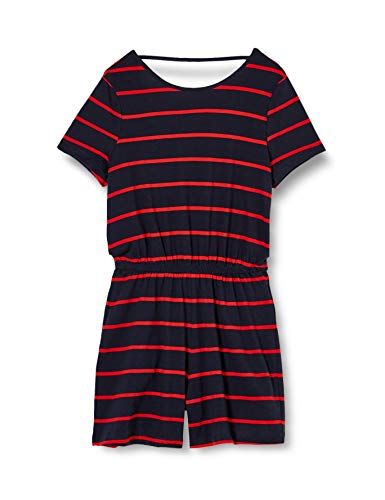 Only Onlmay Life S/s Playsuit Jrs Pantalones Cortos Informales, Azul (Night Sky - High Risk Red), S Mujer