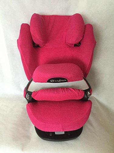 Sommerbezug Schonbezug für Cybex Pallas M und S + M- und S-Fix Frottee 100% Baumwolle pink