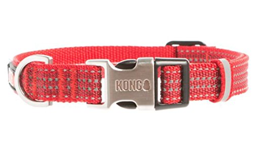 by Barker Brands Inc. Kong Reflective Dog Collar (Large, Red)