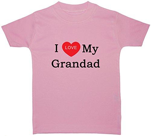 I Love My Grandad bébé/enfant t-shirts/TOPS 0 à 5 ans - Rose - petit