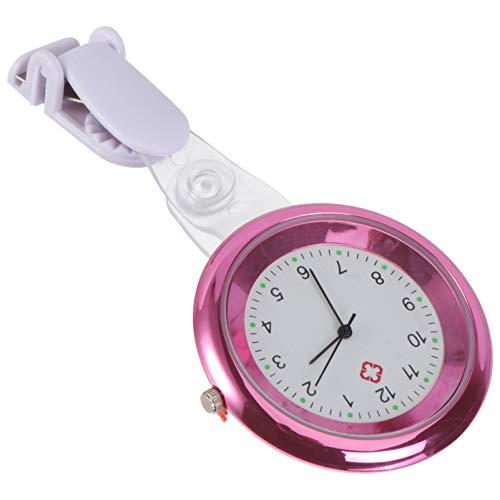 UKCOCO Enfermera Fob Reloj Solapa Broche Reloj con Solapa de Segunda Mano Snap Solapa Colgante Enfermera Reloj para Mujeres Hombres