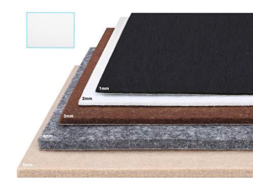 Besbuy Hojas de Fieltro con Respaldo de Adhesivo, 8 Piezas, Grosor 1 mm-5 mm, para Arts Crafts Furniture Pads Multiuso (Blanco 15 × 20cm)