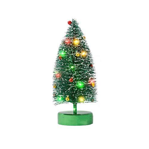 KPCB Tech Arbol de Navidad pequeño con Brillo para Mesa, 24 cm, Verde
