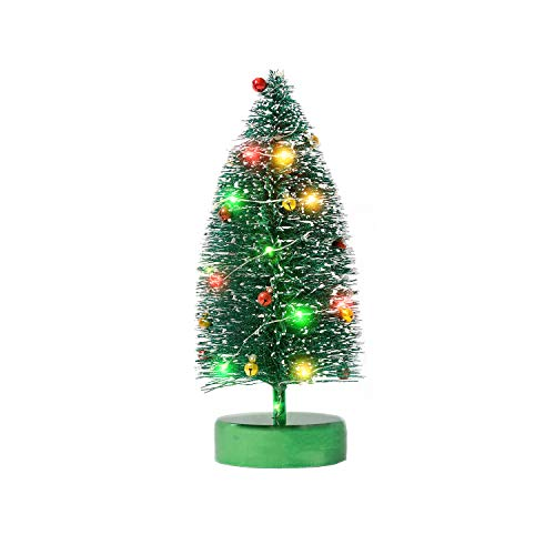 KPCB Tech Mini árbol de Navidad con Brillo para Mesa, 24 cm, Verde