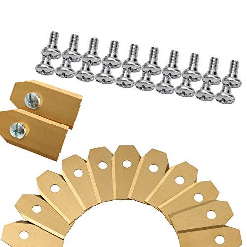 45 x Titan Messer Klingen für alle Husqvarn Automower, Yardforce und Gardena Mähroboter (3g - 0,75mm) inkl. 45 Schrauben, Ersatzmesser passen für 105, 310, 315, 320, 420, 430x, r40i uvm