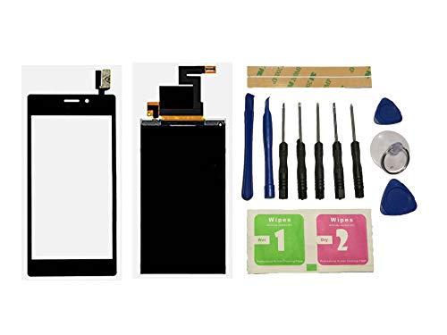 Flügel para Sony Xperia M2 D2302 D2303 M2 Aqua D2403 D2406 Pantalla LCD Pantalla Display + Táctil Pantalla digitzer Negro (sin Marco) de Recambio & Herramientas