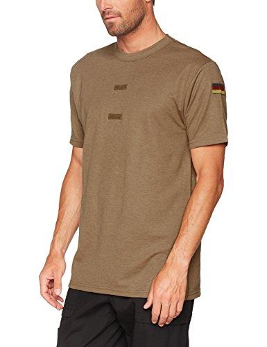 Mil-Tec Herren Original Bundeswehr Tropen T-Shirt Unterhemd Khaki mit Hoheitsabzeichen 7