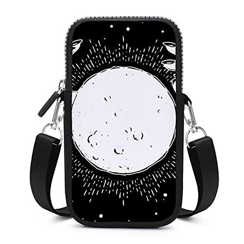 Bolso bandolera para teléfono móvil con correa de hombro extraíble Luna y manos resistente al desgaste funda para llave de cintura cartera Running Bolsas mujeres