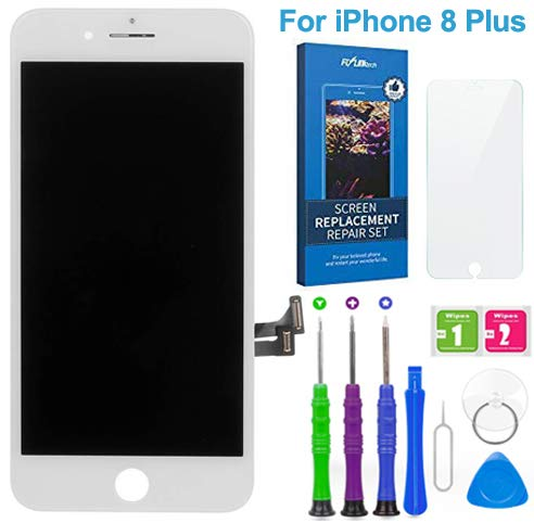 FLYLINKTECH Pantalla Táctil LCD Reemplazo para iPhone 8 Plus Blanco 5.5