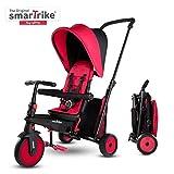 SMARTRIKE STR3 Triciclo Plegable con Carrito Certificado para niños de 1,2,3 años, Triciclo multietapa 6 en 1, Rojo