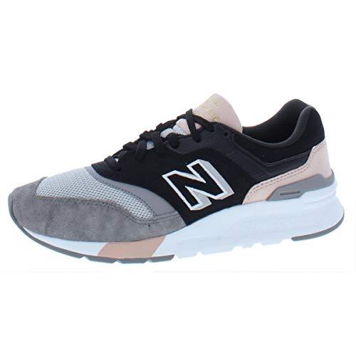 New Balance Women's 997H V1 Sneaker, Black/Smoked Salmon, 9 M US