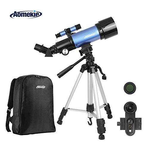 Review Of AOMEKIE Telescope for Adults Kids Astronomy Beginners 70mm Refractor Telescopes with Adjus...