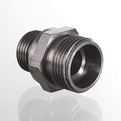 HANSA-FLEX Stahlrohrverschraubung, robust, gerade, 400 bar Druck, 1/2