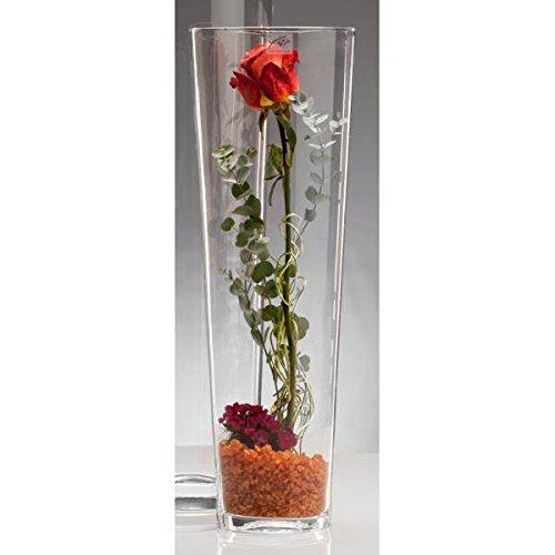 Glasvase CONICAL Glas Vase Tischvase Blumenvase konisch 50 cm