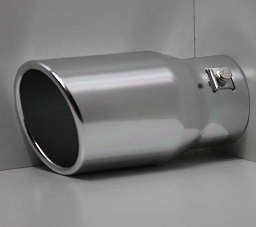 Unbekannt Auspuffblende, Aluminium Auspuff Endrohr Blende zum Anschrauben, ALU rund 78mm