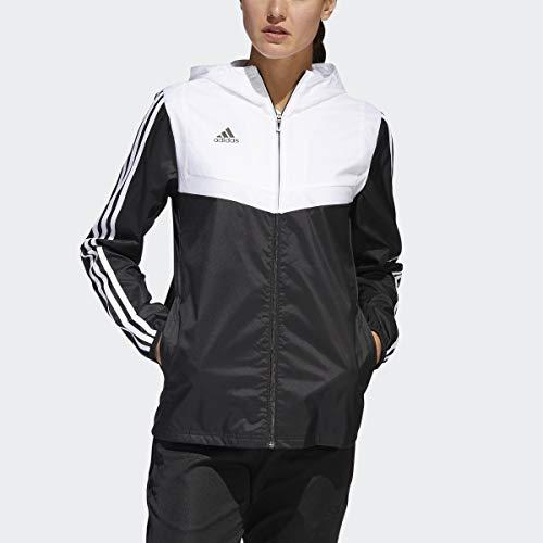 adidas Women's Alphaskin Tiro Windbreaker, Black/White, Medium