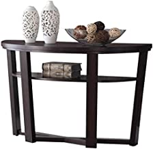 Homes r us Willy Ash Console Table,Dark Brown - 120 x 45 x 76 cms