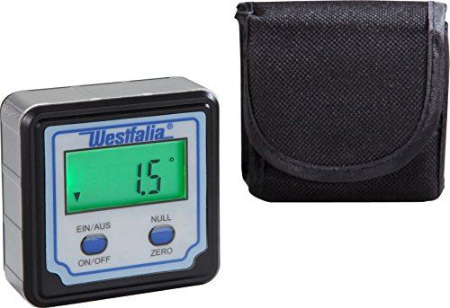 Westfalia Digitales Winkelmessgerät mit Batterie und Tasche