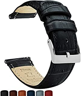 Barton Alligator Grain - Quick Release Leather Watch Bands - Choice of Colors - 18mm, 20mm & 22mm Straps