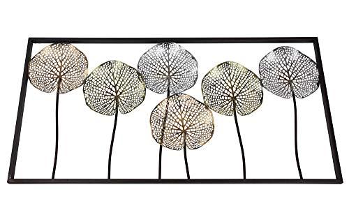 FRANK FLECHTWAREN Metall-Bild Lotus
