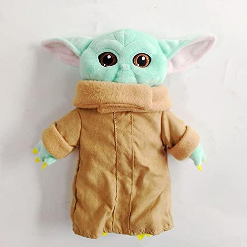 XKMY Baby Yoda Master Juguetes de peluche Star Wars Figura de acción Juguetes de peluche de marionetas de peluche para niños (color: 25 cm)
