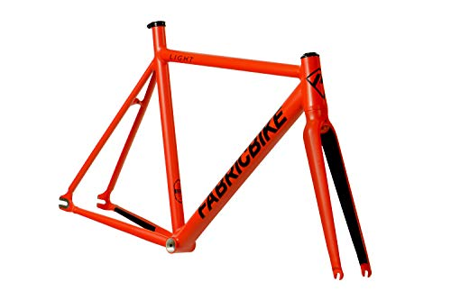 FabricBike Light - Fixed Gear Fahrrad Rahmen, Single Speed Fixie Fahrrad Rahmen, Aluminium Rahmen und Gabel, 4 Farben, 3 Größen, 2.45 kg (Größe M) (Light Matte Red, M-54cm)
