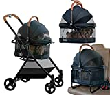 Pet Gear View 360 Stroller, Booster and Carrier Travel System, Jet Black