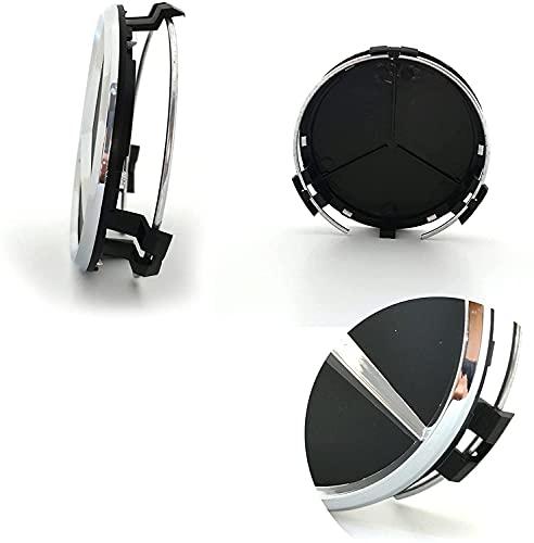 IGGY x4 Coprimozzo Compatibili Neri da 60mm con Logo per Borchie Cerchi in Lega