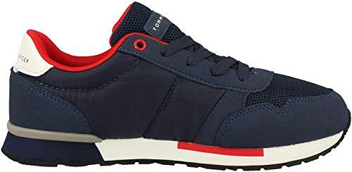 Tommy Hilfiger Kinder Schuhe Low Cut Lace-Up Sneaker für Kids, Farbe:Blau, Größe:EUR 34
